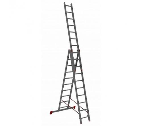 Лестница-стремянка АЛЮМЕТ 3 секц. по 10ст (6,46м)