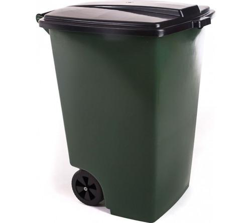 Бак  для мусора на колесиках 110л