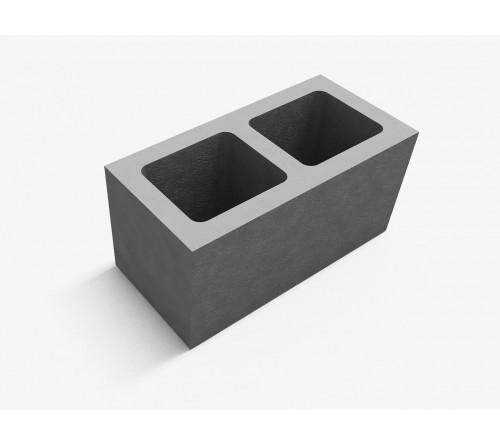 Блок фундаментный двухпустотный 400х200х200