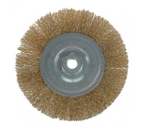 (ON) Щетка для УШМ плоская металл 100мм/22мм