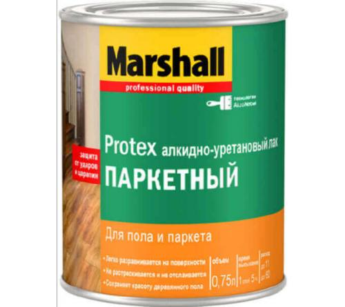 Лак паркетный MARSHAL Protex 10 мат. 0,75л