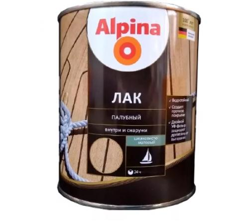 Лак палубный Альпина шелковисто-мат. 2,5л