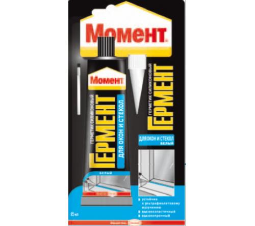 Герметик ГЕРМЕНТ силикон. для окон и стекол бел. 85мл