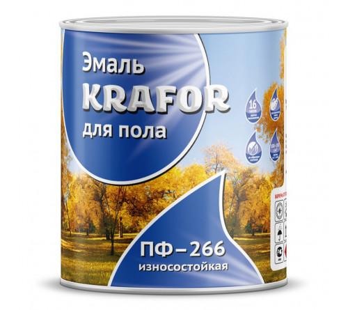 Эмаль ПФ-266 KRAFOR красно-корич. 2,7кг