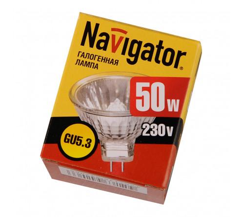 Лампа галоген. GU10 50Вт Навигатор 128308