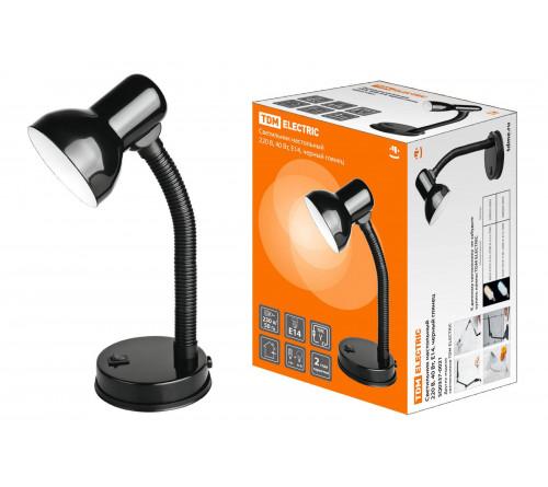 Лампа настольная TDM Е14 220х40Вт черн.гл. SQ0337-0021