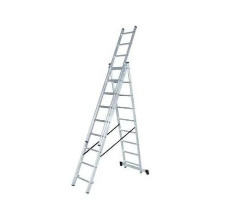 Лестница алюминевая ВИХРЬ ЛА 3 секц. по 9ст
