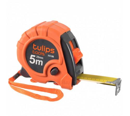 Рулетка Tulips Tools 5м х 25мм фиксатор 10-006