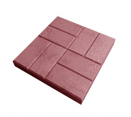 Тротуарная плитка 50х50 коричневая/красная