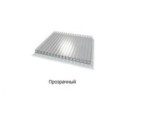 Сотовый поликарбонат 10мм 2,1х6м Прозрачный