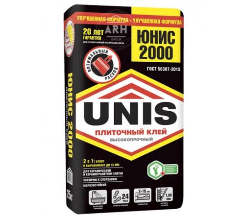 Клей плиточный Юнис 2000 25кг (Черный) (48)