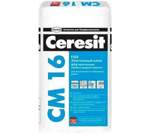 Клей Церезит д/плитки эластичный СМ 16 25кг