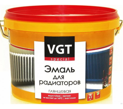 Эмаль ВГТ для радиаторов акриловая 0,5кг
