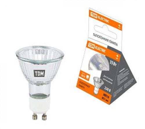Лампа галоген. ТДМ отраж. GU10 35Вт 230В MR16 0341-0010