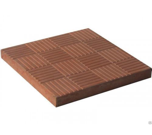 Тротуарная плитка 30х30 красная