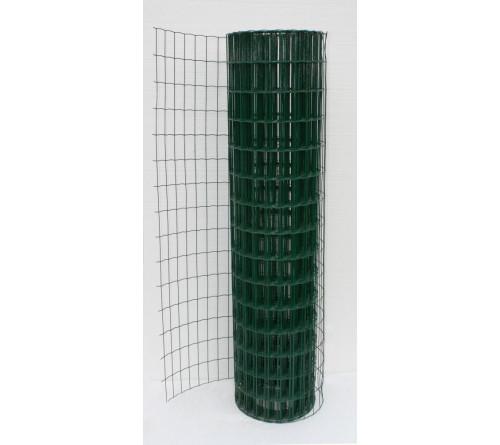 Сетка сварная в ПВХ 1,2 х 25м Яч 30х30 д1,4 (зел)