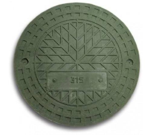 Крышка полимерная зел. 315 мм (Заглушка)